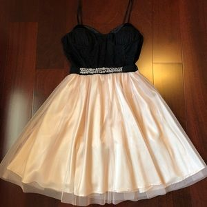 Black and Blush Formal Dress size XS/S